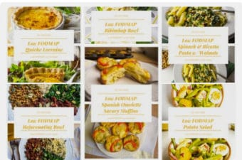 Low FODMAP lunches mealplan
