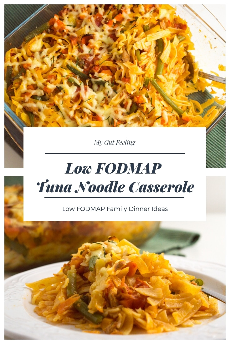 A Low FODMAP Tuna Noodles Casserole recipe for the perfect family dinner