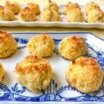 Two platters filled with coconut macaroons